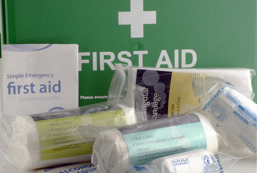 First Aid Box and supplies